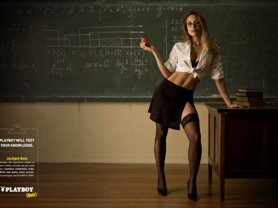 Playboy Print Ad -  Hot teacher, 2