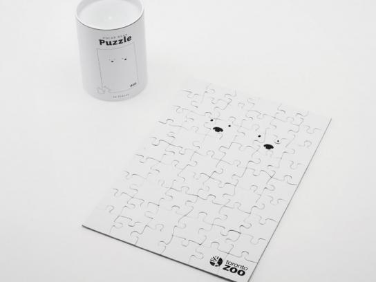 Toronto Zoo Direct Ad -  Polar Bear puzzle