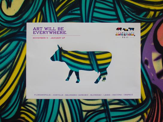 CowParade Outdoor Ad -  Art Will Be Everywhere, 1