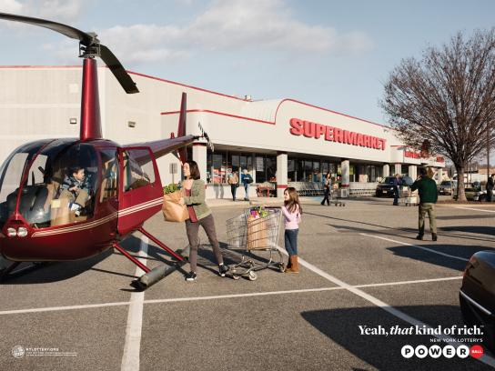 New York Lottery Print Ad -  Helicopter