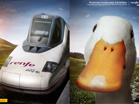 Renfe Print Ad -  Duck