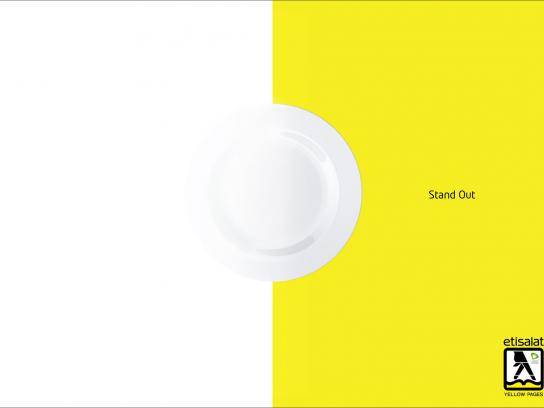 Yellow Pages Print Ad -  Stand Out, Restaurant