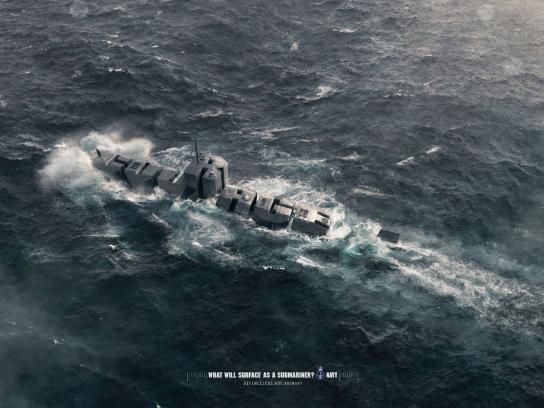Royal Australian Navy Print Ad -  Courage