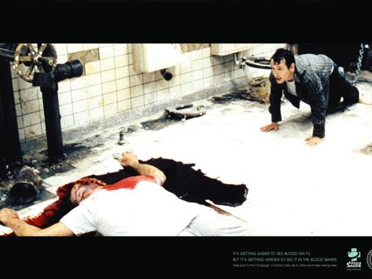 Santa Casa Print Ad -  Blood on TV, 3