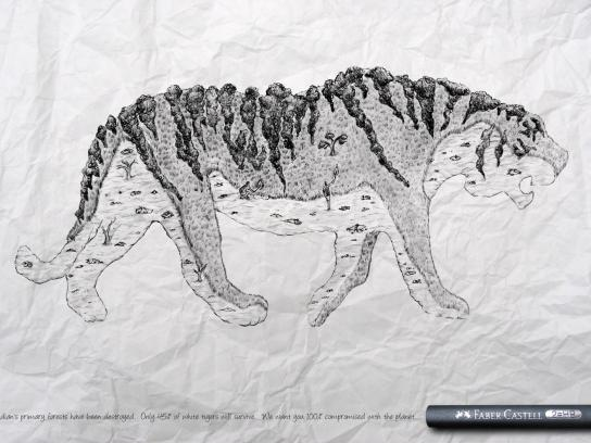 Faber-Castell Print Ad -  Tiger