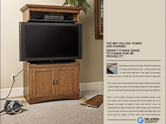 Tri-State Print Ad -  Flat-screen armoire