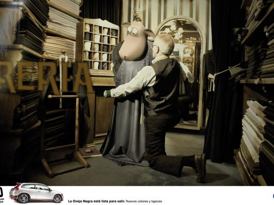Volvo Print Ad -  Sheep, 1