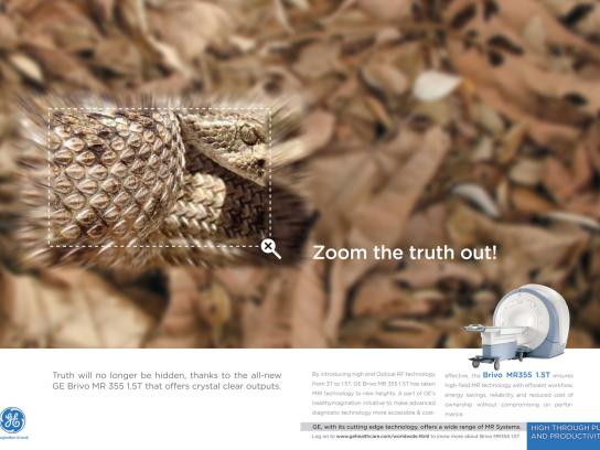 GE Print Ad -  Zoom the truth out, 3