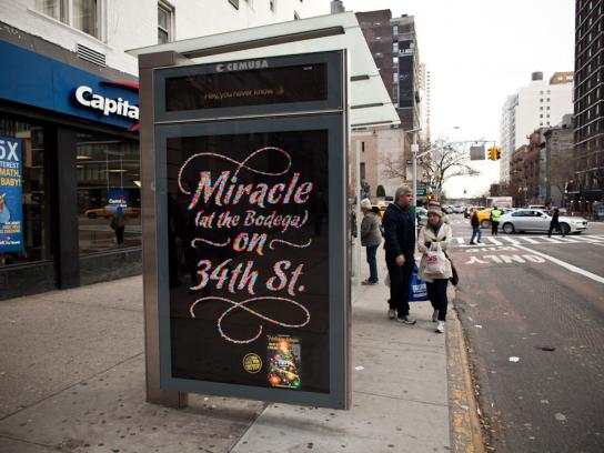 New York Lottery Outdoor Ad -  Miracle on the 34th St.