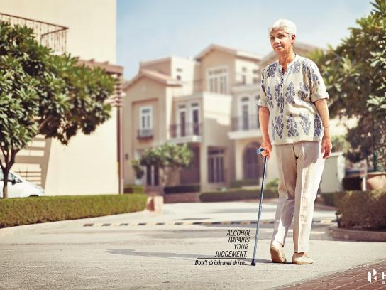 Hero Motocorp Print Ad - Impaired Judgment - Old Lady