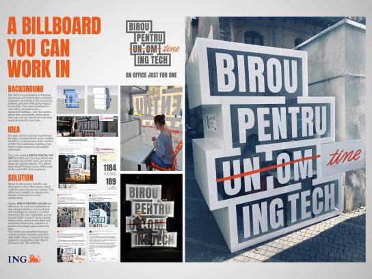 ING Ambient Ad - An Office Just For One