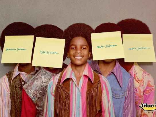 Glue-it Print Ad -  Jackson 5