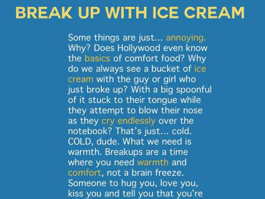 Kraft Print Ad - Break Up With Ice Cream