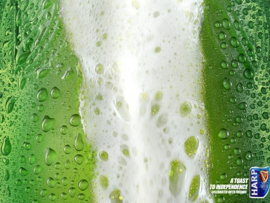 Harp Print Ad -  A toast to independence