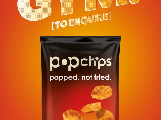 Popchips Print Ad -  Be a bit good, 2