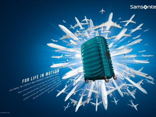 Samsonite Print Ad - For life in motion, 3