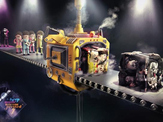 Locomotiva Print Ad -  Keep music uncompressed, 1