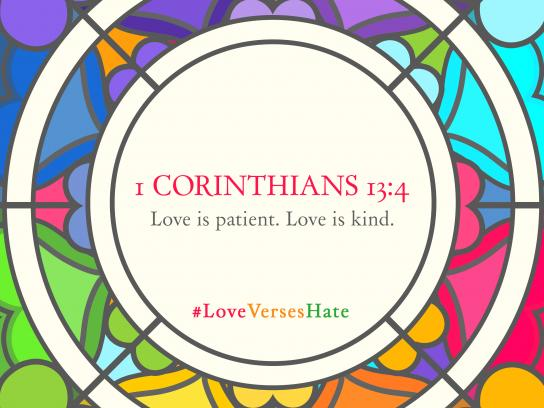 Team Magazine Design Ad - Love Verses Hate