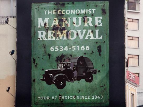 The Economist Outdoor Ad -  Signs, Manure Removal