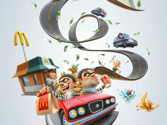 McDonald's Print Ad - When you're on the run...