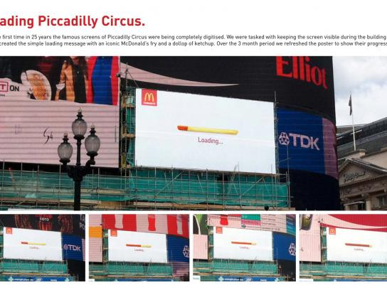 McDonald's Outdoor Ad -  Loading Piccadilly Circus