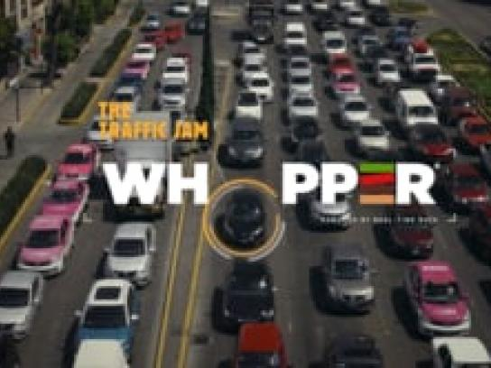 Burger King Experiential Ad - The Traffic Jam Whopper