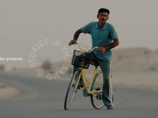 Charicycles Ambient Ad - Stories in the Sand