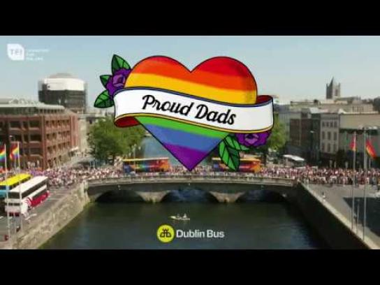 Dublin Bus Experiential Ad - Proud Dads