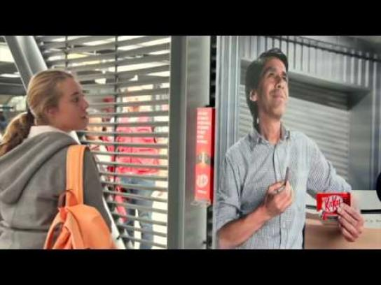 Kit Kat Outdoor Ad -  The day advertising had a break