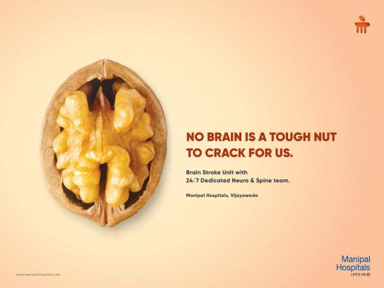 Manipal Hospitals Outdoor Ad - Walnut Brain