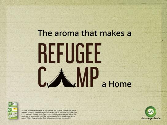 Airwick Print Ad - Refugee Camp, Old Age Home, Orphanage