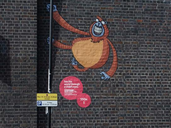 V&A Museum of Childhood Outdoor Ad -  Monkey