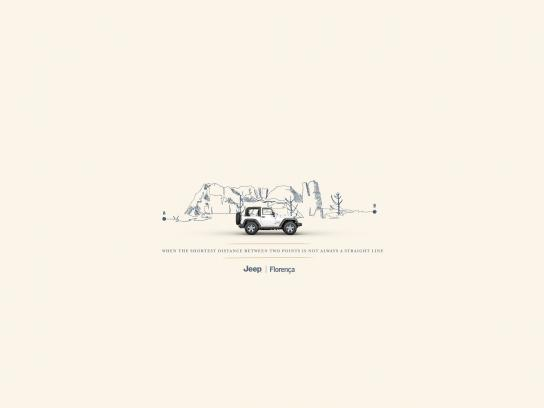 Jeep Print Ad - Mountain