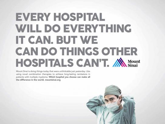 Mount Sinai Print Ad - Other Hospitals