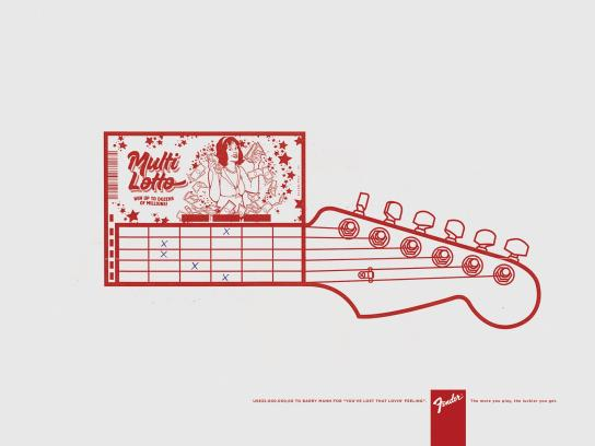 Fender Print Ad -  Lucky, 4