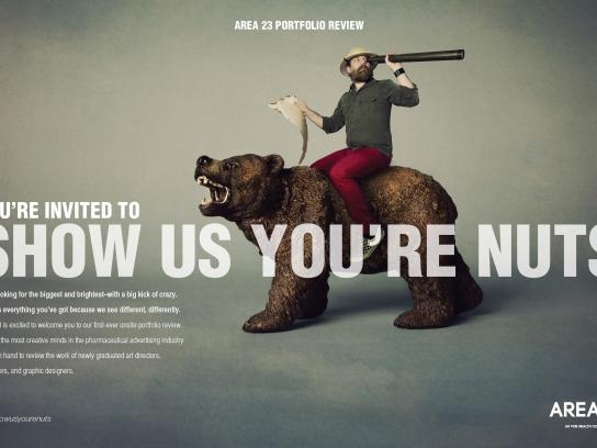 Area 23 Print Ad -  Show us you're nuts, 2