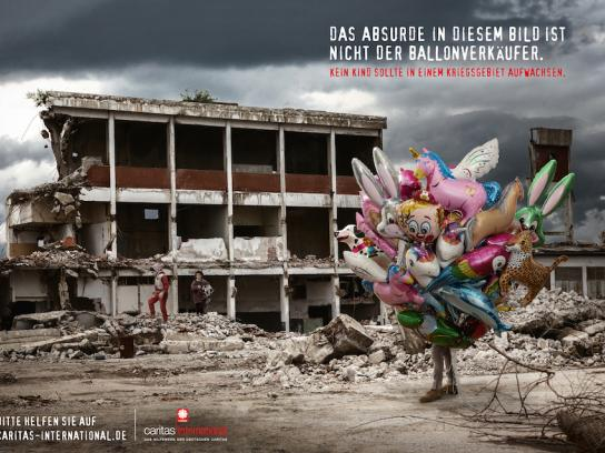 Caritas Print Ad - Out of Place - Balloon