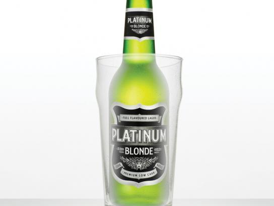 Platinum Blonde Print Ad -  Glass