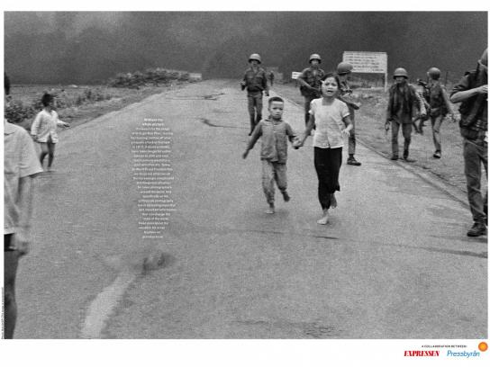 Pressbyran Print Ad - Without the Whole Picture: Tank Man, Napalm Girl,  Boy on the Beach