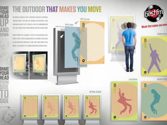 Best FM Outdoor Ad -  The outdoor that makes you move