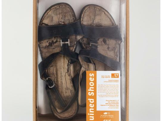 Refugees International Japan Direct Ad - Ruined shoes