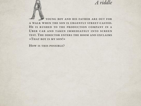 Roy Awards Print Ad -  A riddle