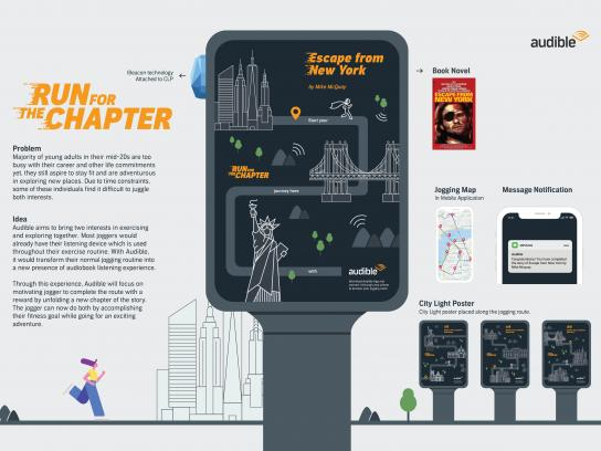 Audible Outdoor Ad - Run For The Chapter