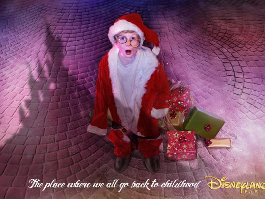 Disneyland Print Ad -  Even Santa