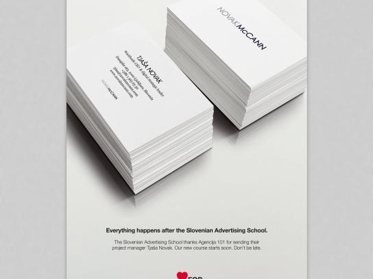 Slovenian Advertising School Outdoor Ad - Buzz cards for the future, 3