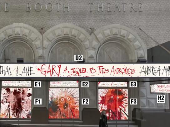 Gary: A Sequel to Titus Andronicus Outdoor Ad - Gary Front of House Design and Installation