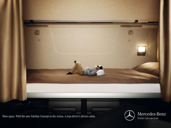Mercedes Print Ad -  More space, 1