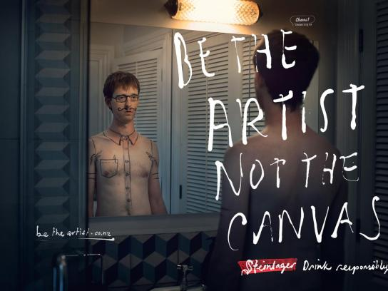Steinlager Beer Print Ad -  Be the Artist, Shirt