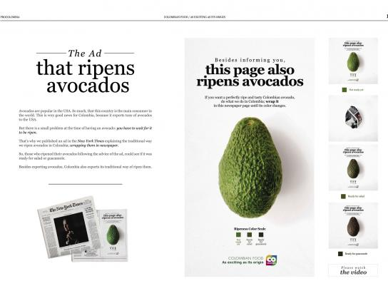Colombian Food Print Ad - The Ad That Ripens Avocados