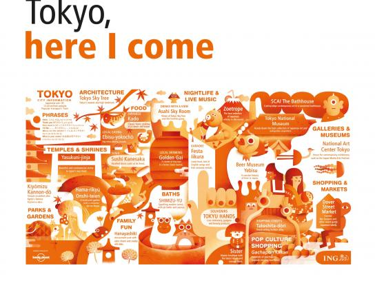 ING Outdoor Ad -  Cities in a Click - Tokyo